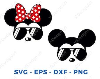 a1be6e41e7f8 Mickey Minnie sunglasses svg Mickey Minnie Head Face svg png Cut File  Cricut Silhouette Cameo Vinyl Decal Disney Printable Tshirt Transfer