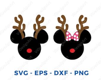 reindeer mickey etsy