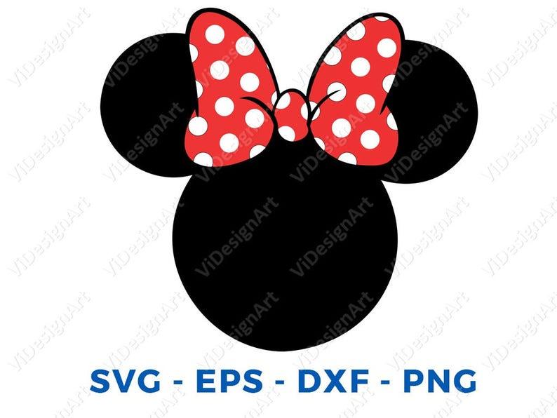 Minnie Mouse Kopf Svg Dxf Png Vektor Geschnitten Datei Cricut Etsy