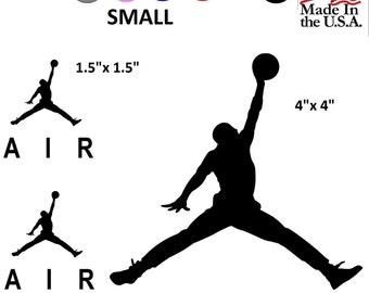 520160d7f7 Set NBA Jordan AIR 23 Jumpman Logo Huge Flight Vinyl Decal Sticker Car  Windows
