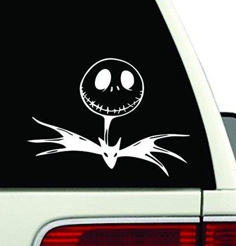Jack Face Nightmare Before Christmas Bat Tie  Vinyl Decal Sticker for Car Laptop
