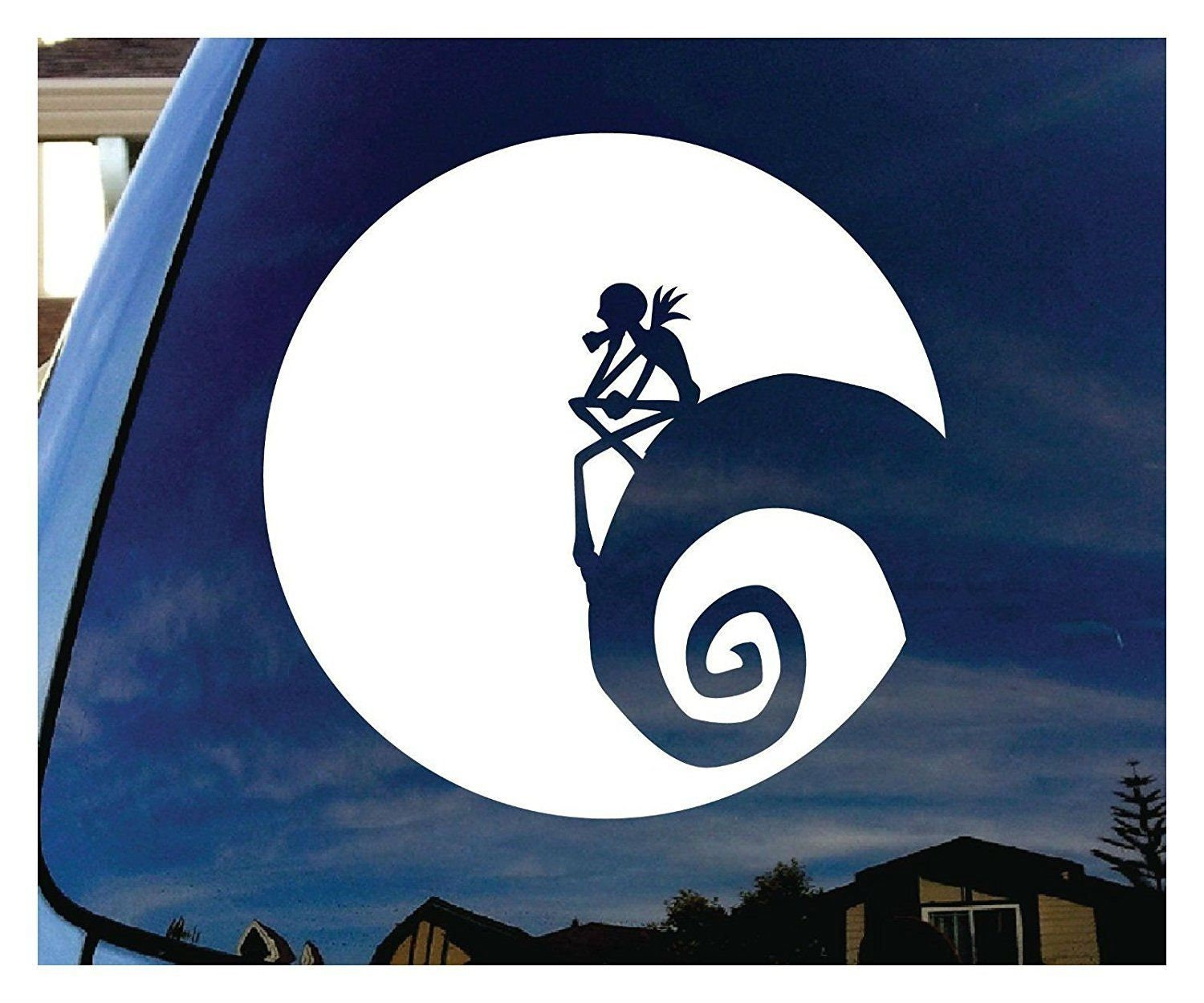Jack Nightmare Before Christmas Moon Vinyl Decal Sticker for | Etsy