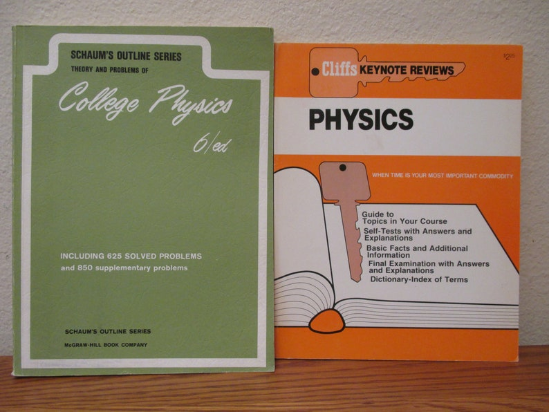 Vintage Physics School Book Set, Physics Made Simple, Schaum's Outline  Series, Free Shipping