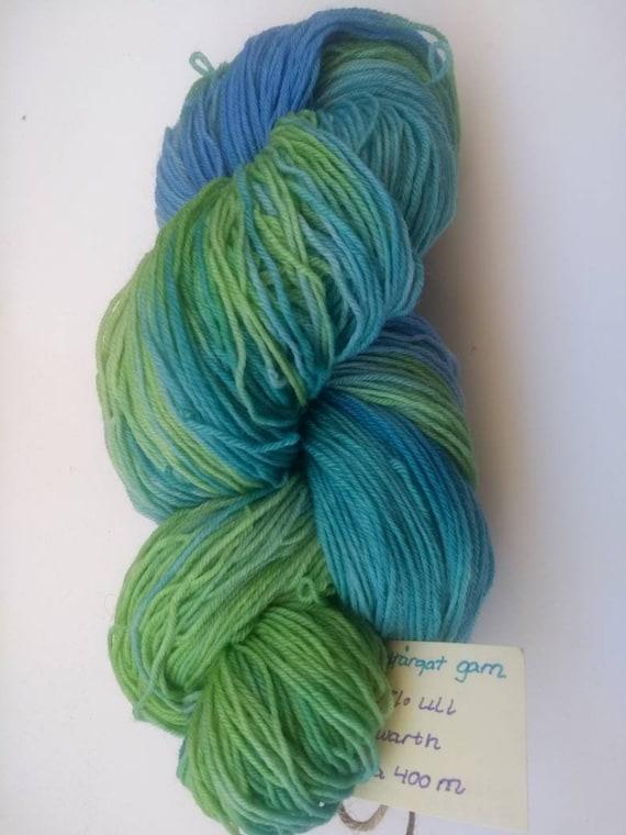 Handpainted yarn 4ply Polwarth 100/% wool 100g approx 400m