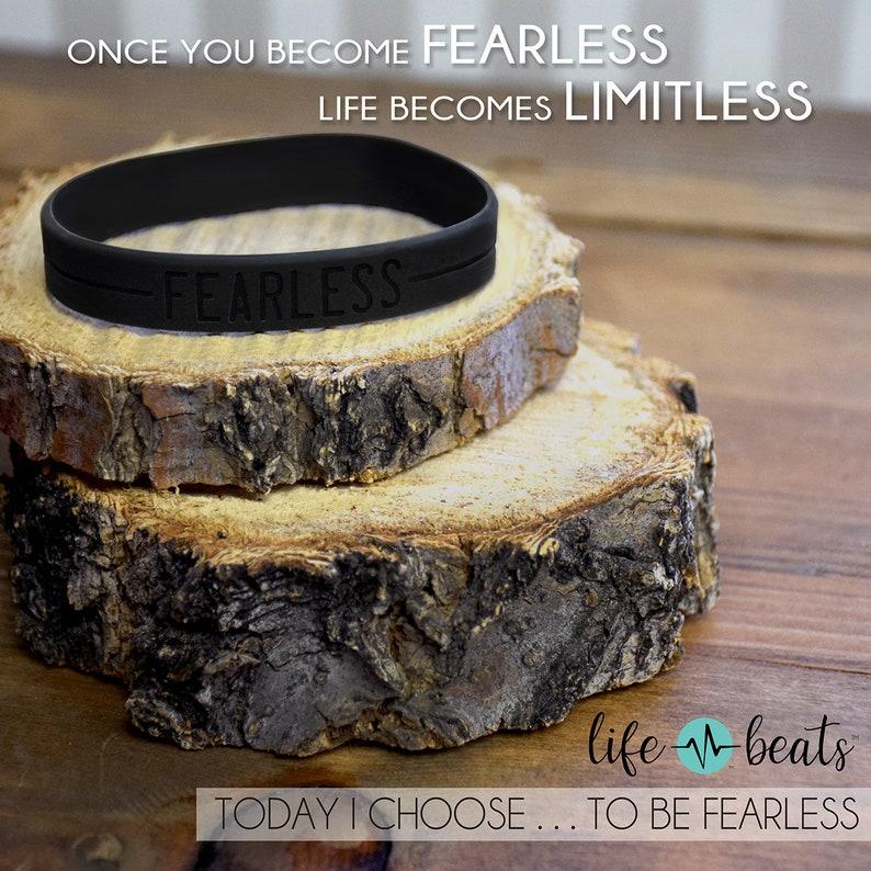 Fearless Wristband silicone bracelet black