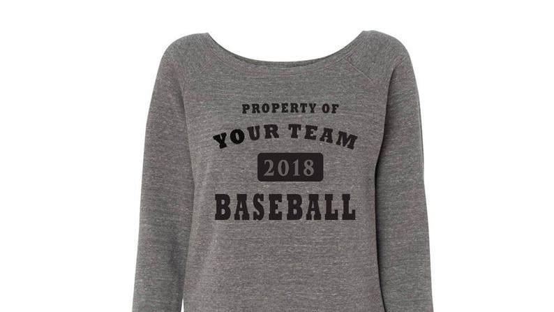 Custom Customizable Womens Wideneck Team Baseball Sweatshirts Wholesale Bulk Personalized Silk Screen Business Event Party