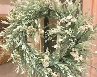 FREE SHIPPING   Everyday Wreath   Greenery Wreath   Mini Wreath   Farmhouse Wreath   Rosemary Wreath   Wreath   Wreath   Willa Green Home