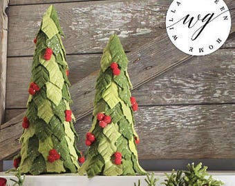 READY TO SHIP | Set of 2 Christmas Trees | Christmas Decor | Felt Christmas Tree | Christmas Tree | Merry Christmas | Willa Green Home