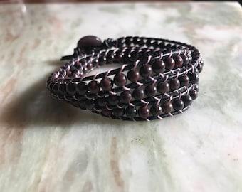 Brecciated Jasper Wrap Bracelet