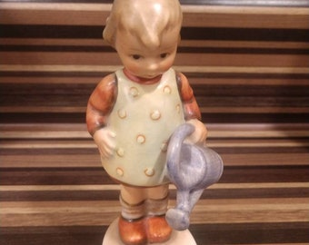 "Vintage Original Goebel Hummel Figurine #74 ""Little Gardener"" 4 1/4"" Tall"