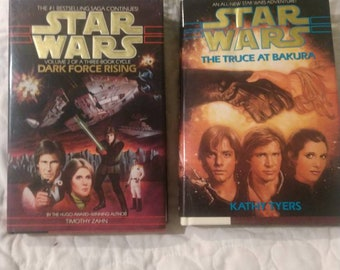 2 Star Wars books novels, 1992 1994 The Truce at Bakura Kathy Tyers, Dark Force Rising Timothy Zahn