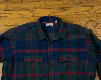 Vintage LL Bean Plaid Shirt