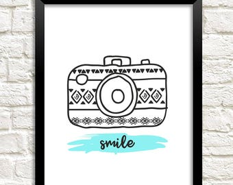 picture regarding Smile You're on Camera Sign Printable called Digicam smile Etsy