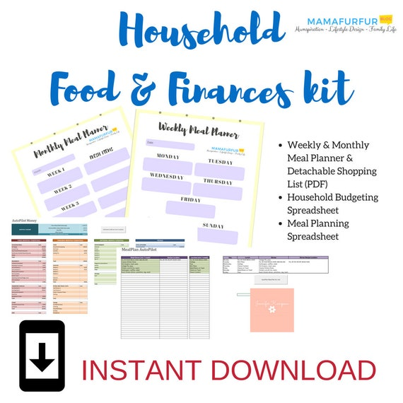 organised home meal planning kit budgeting meal planning etsy