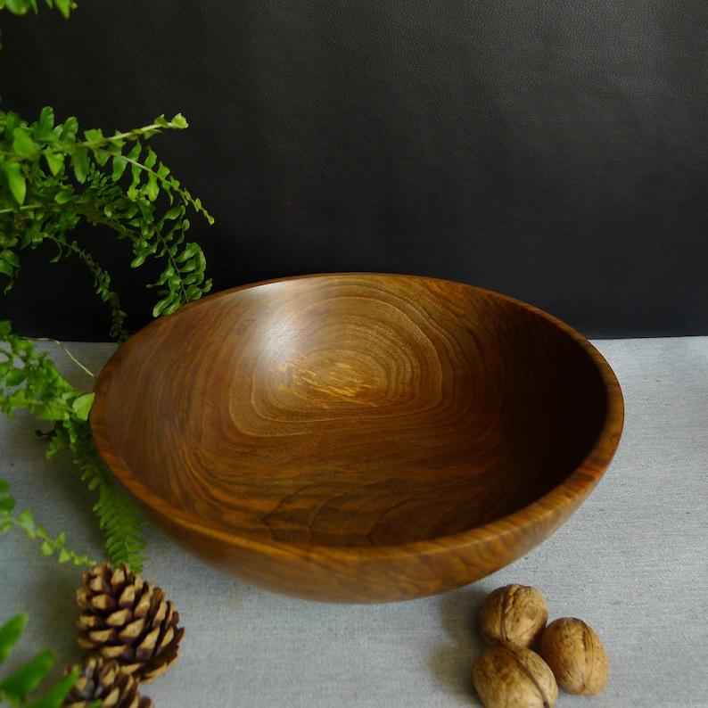 Wooden Salad Bowl Wood Fruit Bowl Handmade Bowl Salad Bowl Food Safe Bowl Wood Turning Handmade Wooden Bowl Walnut Wood Bowl