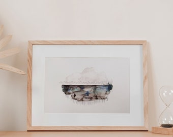 Palermo seascape | Original watercolour painting  | One of a kind | Unframed