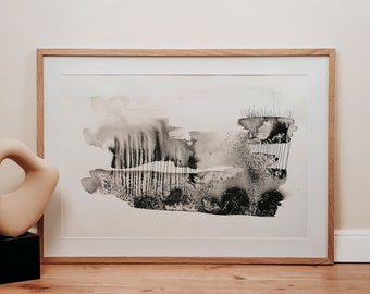 Memories  | Original ink painting | Abstract art | Black & white | One of a kind | Unframed
