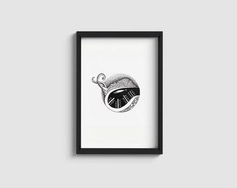 Palermo series n.1 | black & white minimal illustration | A4/A5 print