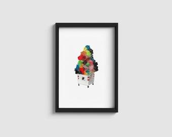 Trash | watercolour illustration | A4/A5 art print