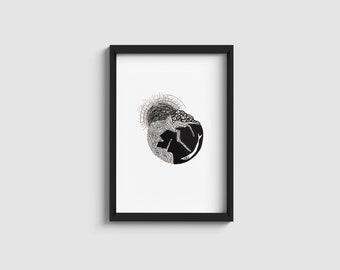 Palermo series n.3 | black & white minimal illustration | A4/A5 print