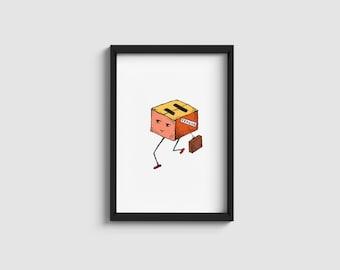 Fragile box | illustration | A4/A5 art print