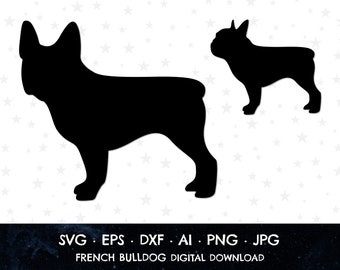 svg dxf eps Gift Idea Birthday Gift French Bulldog SVG Silhouette Design Frenchie Love Instant Download T-Shirt Cricut Silhouette Cut File