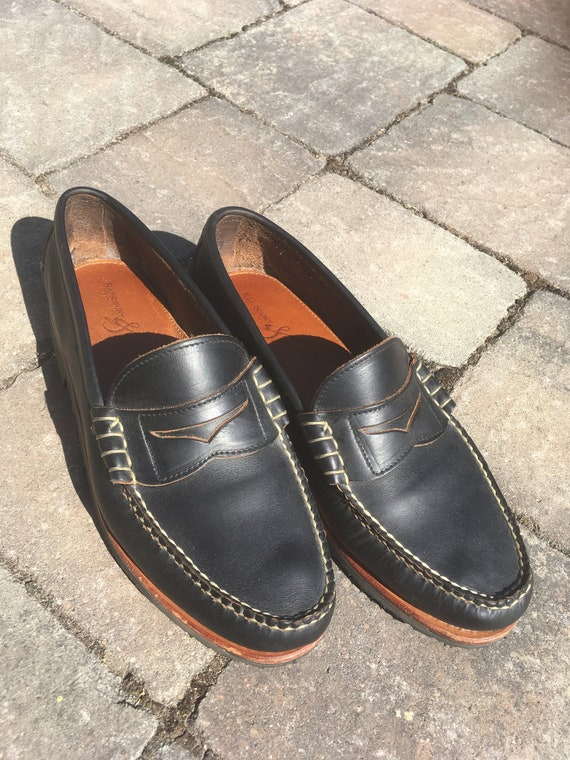RANCOURT and CO 10E Beefroll Penny Loafers Leather