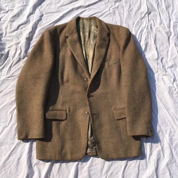 Vtg 40R BURBERRY Tweed English Sport Coat