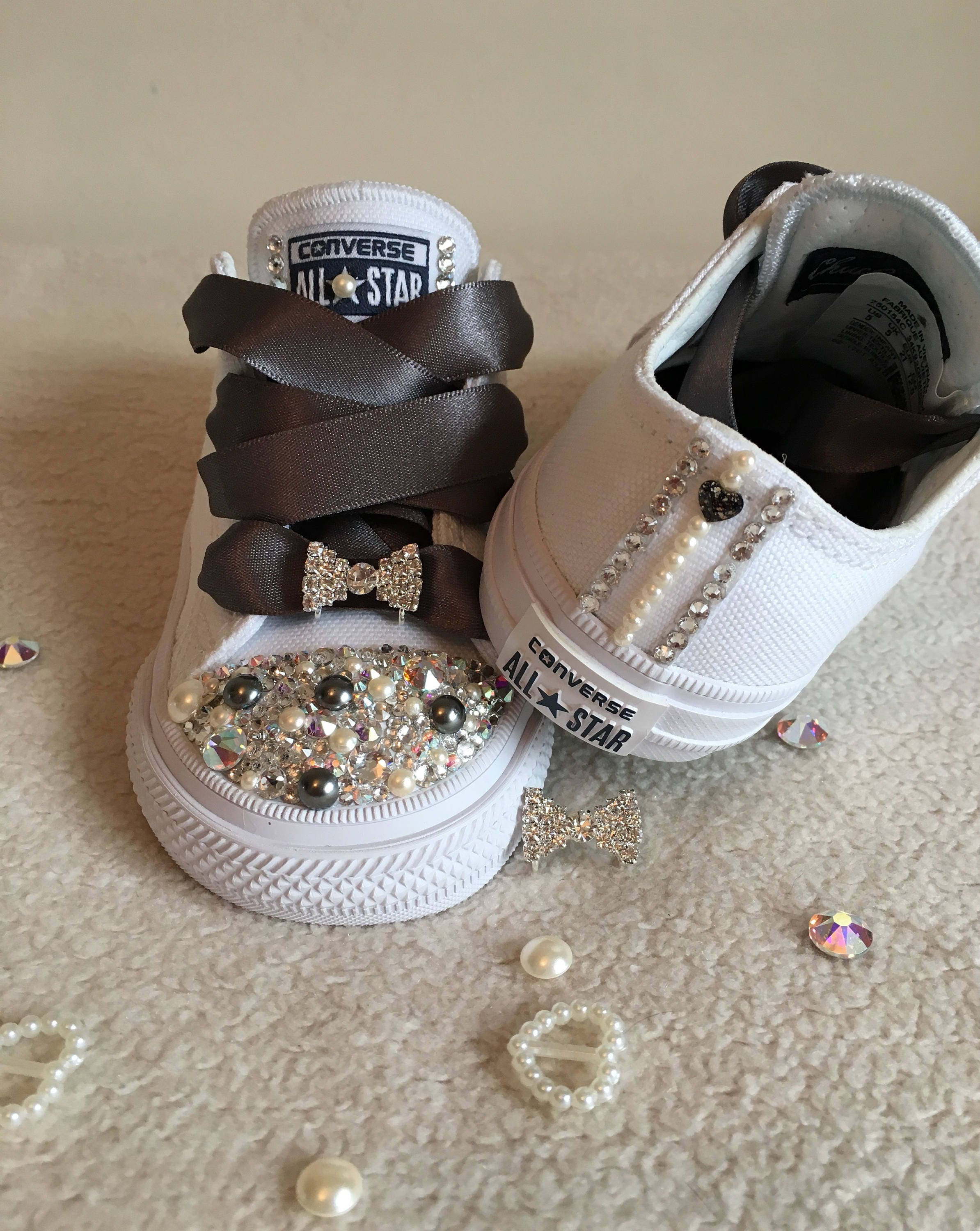 White bling converse crystal converse pearl converse  730ce26b22