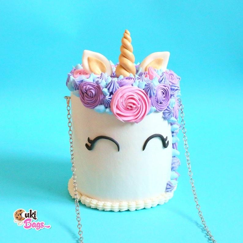 Unicorn Cake Bag Rainbow Purse Shoulder