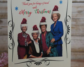 golden girls christmas card golden girls holiday greeting the golden girls christmas card golden girls christmas card