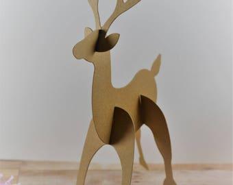 Reindeer die cuts, Reindeer Cut Outs, Reindeer, Christmas decoration, Christmas gift