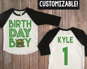Teenage mutant ninja turtle birthday shirt, TMNT shirt, TMNT birthday, teenage mutant ninja turtles, custom TMNT raglan, turtles party
