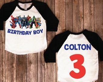Superhero Birthday Shirt Party Theme Superheros Family Shirts Boy