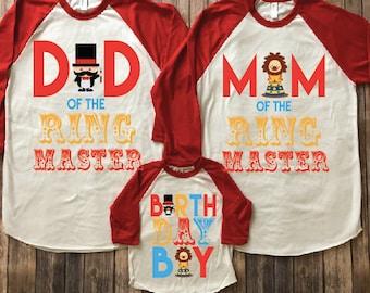 Circus Birthday Shirt Party Theme Ringmaster Mom Of Dad Boy
