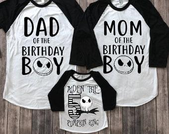 Jack Skellington Birthday Shirt Custom Disney Nightmare Before Christmas
