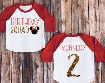Minnie mouse squad, minnie mouse birthday shirt, birthday squad, disney kids shirt, disney birthday , minnie birthday party, minnie squad