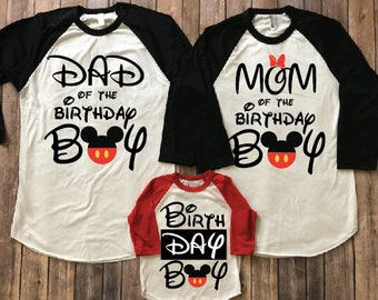 Mickey Mouse Birthday Shirt Disney Matching Family Vacation Party