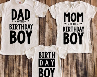 Birthday Boy Shirt Matching Parents Shirts Family Mom Of Dad