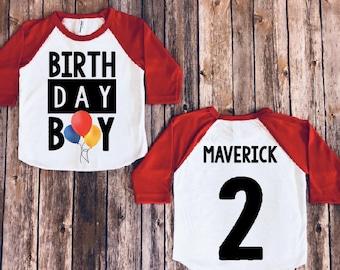 Birthday Boy Shirt Balloon Version Baby Party Toddler Theme