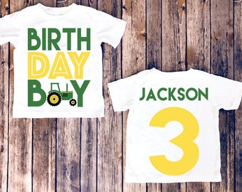 Tractor Birthday Shirt Farm Party Country Boy