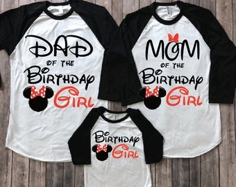 Minnie Mouse Birthday Shirt ADD Any Name Age FAMILY Matching Shirts