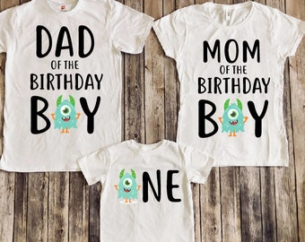 Monster Birthday Shirt Party 1st Mom Of Dad Matching Family