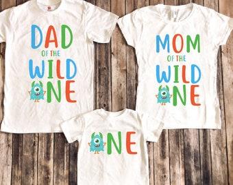 f57aa3341052 Monster birthday shirt, monster birthday party, 1st birthday shirt, first  birthday shirt, mom of birthday, dad of birthday , matching family