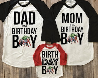 Superhero Birthday Shirt Party Theme Superheros Family Shirts Boy