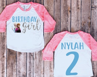 7dc8a314f75 Frozen birthday shirt