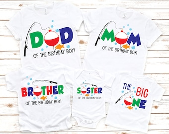 Family The big one boys 1st first birthday fishing shirt, first birthday shirt, 1st birthday shirt , fishing birthday shirt, matching