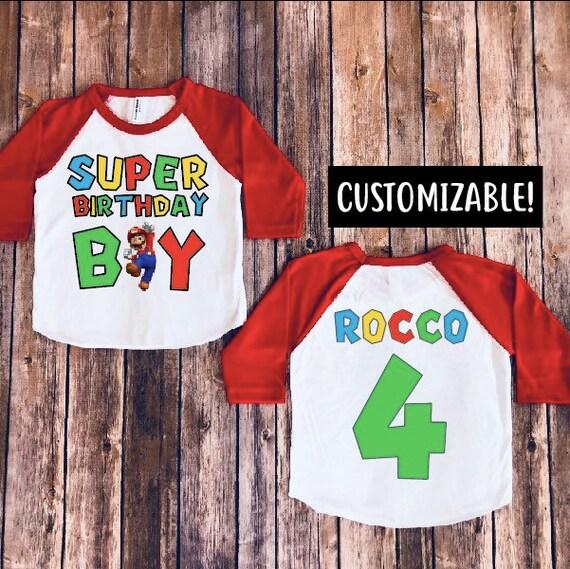 Super Mario Brothers Birthday Shirt Boy