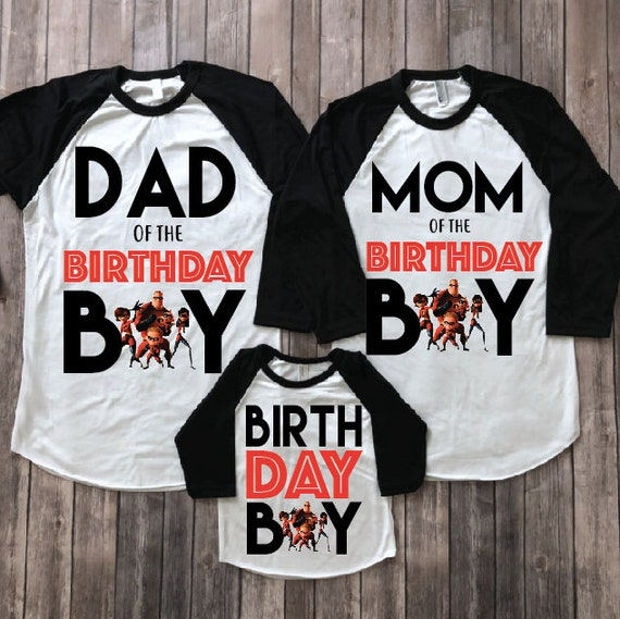 The Incredibles Birthday Shirt