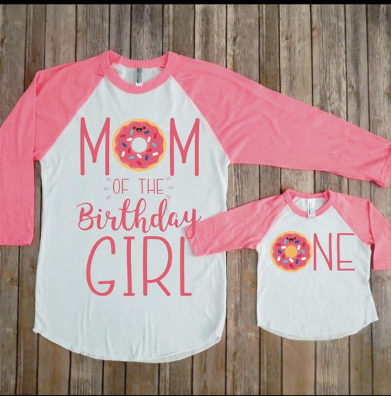 Mommy And Me Birthday Shirts Donut First